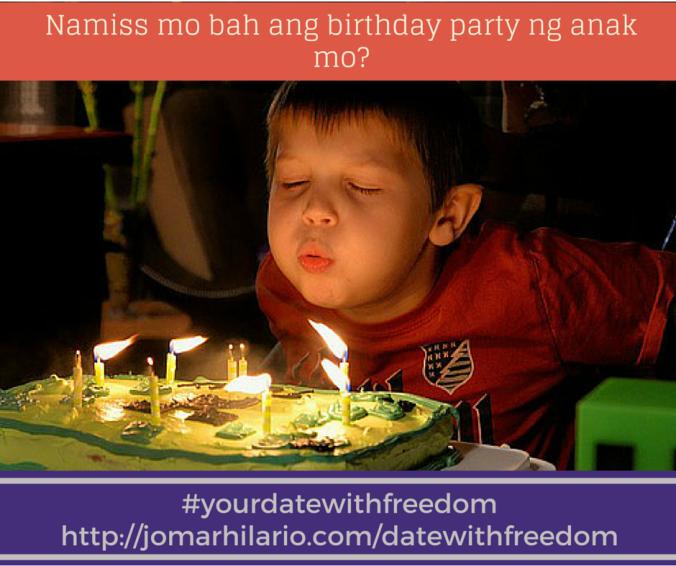 Namiss mo bah ang birthday party ng anak